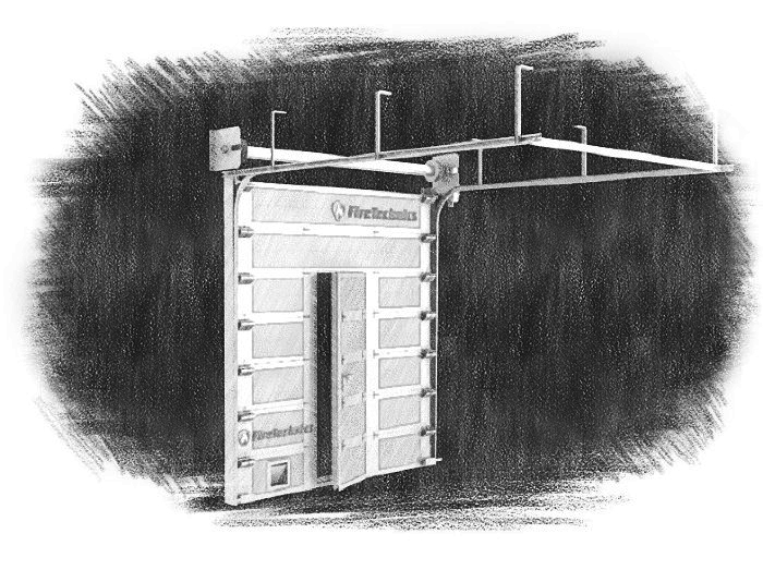 Секционные противопожарные ворота
